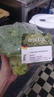 500g of Broccoli domestically grown in Germany for 0,59€